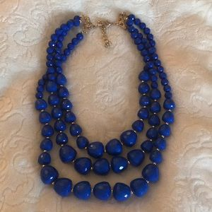 Jewelry - NEW Bright blue beaded necklace